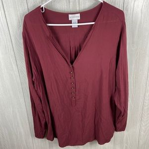 Soft Surrounding Red Top Size 1X